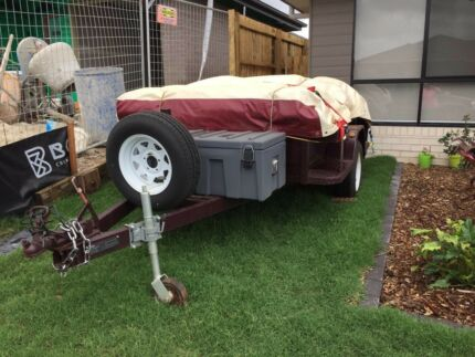 Camper trailer , Brand new trailer and Near New Tent