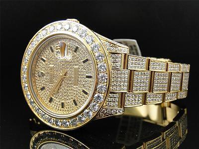 28 Ct New Mens Diamond Gold Rolex Datejust Date Just 2 II 41MM Watch