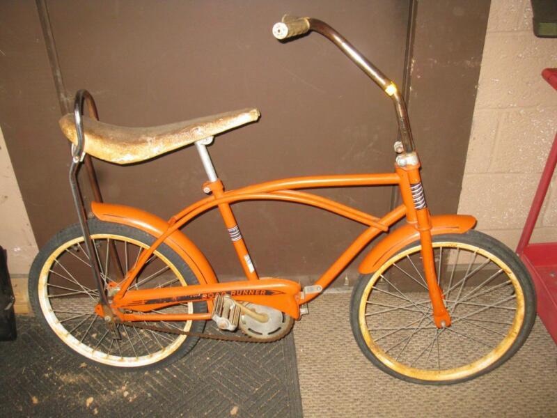 HEMI ORANGE ROADRUNNER MUSCLE BIKE BANANA SEAT BICYCLE ORIGINAL MOPAR