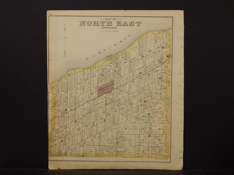 Pennsylvania, Erie County Map, 1876 North East Township N6#88