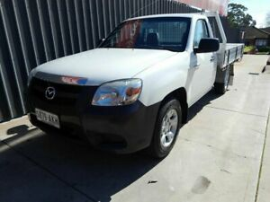 2010 Mazda BT-50 UNY0W4 DX 4x2 White 5 Speed Manual Cab Chassis Blair Athol Port Adelaide Area Preview