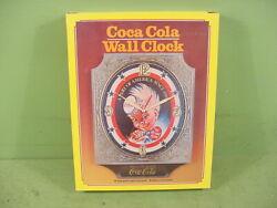 Vintage 1970's Coca-Cola Sprite Boy Wall Clock Working New In Original Box