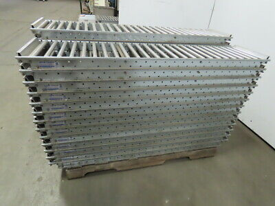 Span Track Carton Flow Gravity Roller Conveyor 12-12 X 51-58 Lot Of 40