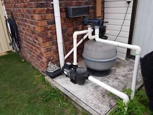 Inground Pool  Sand filter - Pump - Chlorinator Bethania Logan Area Preview