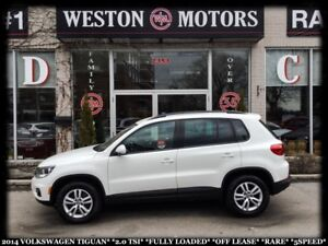 2014 Volkswagen Tiguan 2.0 TSI*FULLY LOADED*OFF LEASE*RARE*5SPEE