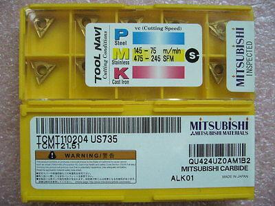 Qty 20x Mitsubishi Tcmt21.51 Tcmt110204 Us735 New