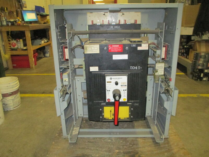 Ge Powerbreak Thss6620dfce1 2000a 3p 600v Eo Breaker In Do Frame W/ Ls Used E-ok