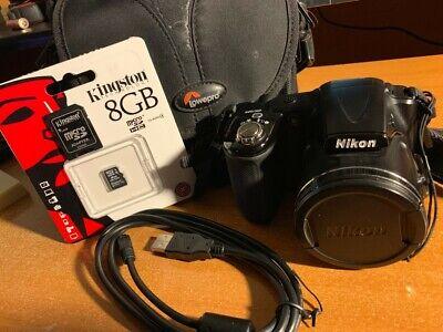 Nikon COOLPIX L830 16.0MP Digital Camera - Black + Case + Memory Card segunda mano  Embacar hacia Mexico