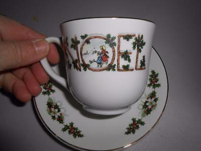 Woods & Son NOEL Cups and saucers SIX EUC England