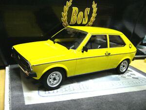 VW Volkswagen Polo MKI 1. Baureihe gelb Typ 86 1975 - 1981 NEW BoS Resin 1:18