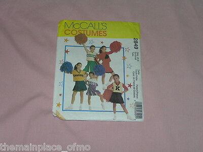 McCalls Pattern 2849 Cheerleader Costume Extra Small 3 4 Halloween Sewing