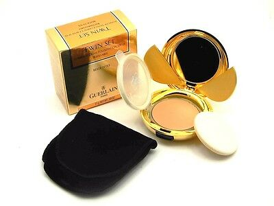 Guerlain Beige Foundation - Guerlain Twin Set Compact Creme Foundation SPF 15 Beige 55 New In Box