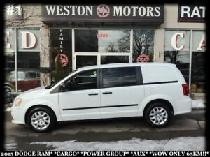 2015 Dodge Ram Van CARGO*POWER GROUP*AUX*WOW ONLY 65KM!!*