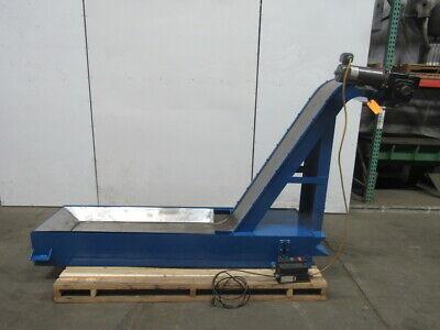 Magnetic Incline Chip Conveyor 13 Belt 50 Discharge 115v 1ph 0-36fpm