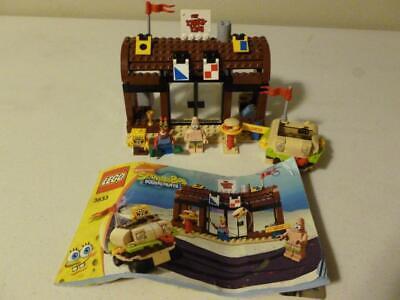 Lego 3833 Krusty Krab Adventures Set 100% Complete Minfigure Manual SpongeBob
