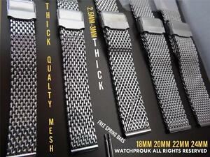 DIVE-STAINLESS-STEEL-MESH-BRACELET-SHARK-MILANES-STRAP-BAND-FOR-BREITLING-WATCH