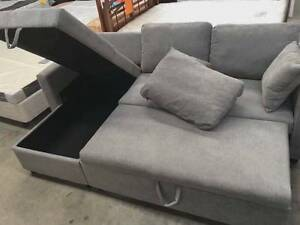 【Brand New】High Quality Fabric Corner Sofa Bed with Storage Gray Melbourne CBD Melbourne City Preview