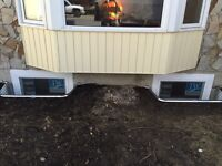 Basement window enlargement, new window cut outs & install