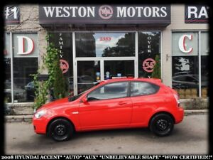 2008 Hyundai Accent AUTO*AUX*UNBELIEVABLE SHAPE!!*WOW CERTIFIED!