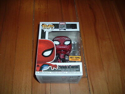 FUNKO POP! SPIDER-MAN #593~ HOT TOPIC EXCLUSIVE~ MINT~ MARVEL SERIES~ METALLIC~