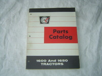 White Oliver Cockshutt 1600 1650 Tractor Parts Catalog Book Manual Excellent