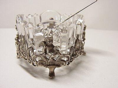 Jugendstil Salzgefäß Salz  Putto  Putte Accessoires  Engel 835 Silber Löffel