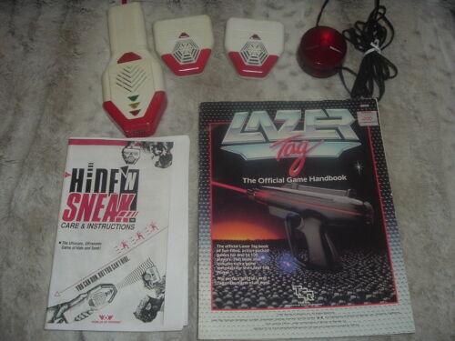 1989 Worlds of Wonder Laser Tag Accessories Lot,Clean,Laser Tag Handbook,WOW.