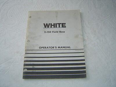 White Field Boss 2-150 Tractor Operators Manual