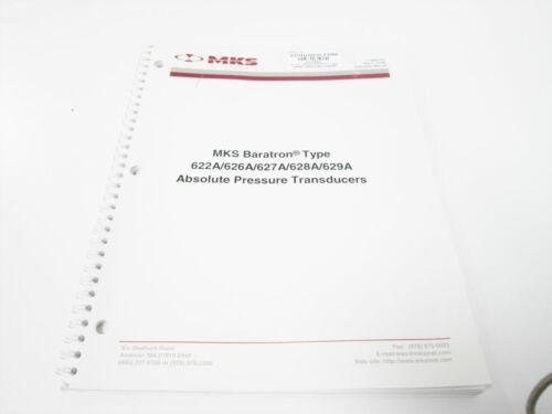 MKS 114492-P1 MANUAL BARATRON 622A/626A/627A/628A/629A PRESSURE TRANSDUCER