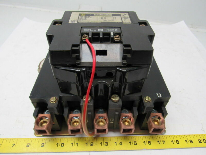 Square -D Class 8502 Type SFO 4 Form S Series A Size 4 600V Magnetic Contactor