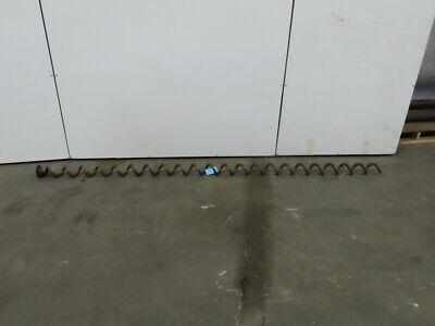 Centerless Conveyor Auger Screw 4 Carbon Steel Diameter X 6 Pitch X 114 Long