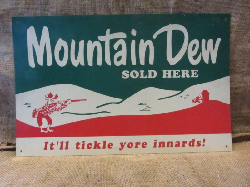 Vintage Mountain Dew Sign Ya-hoo > Antique Old Pepsi-Cola Soda Rare 10018