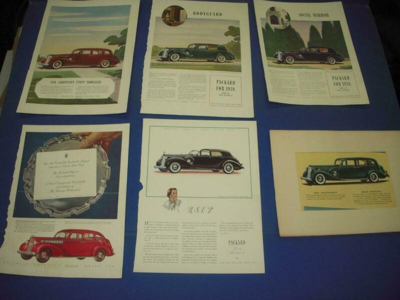 PACKARD (1937-38) AUTOMOTIVE ADVERTISEMENT AD PRINT USED AD-22