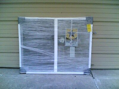 BRAND NEW:  HUGE White VINYL House SLIDER WINDOW 59x46