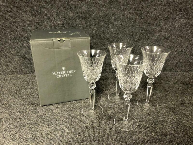 4 Waterford Crosshaven Crystal Wine Glasses