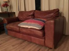 Comfy Leather Couch Linley Point Lane Cove Area Preview