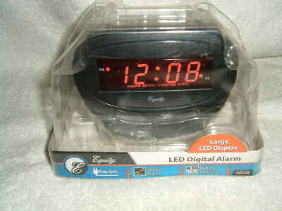 Equity by La Crosse Model 30228 LED Alarm Clock - Red LED Display New In Package