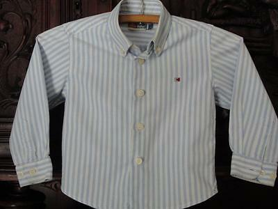 THE FIRST OUTLET BOUTIQUE DESIGNER SPAIN SIZE 2 TODDLER BOYS DRESS SHIRT BLUE