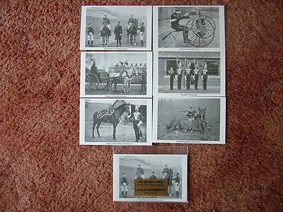 British Army Cavalry Regiments - THE BRITISH ARMY - CAVALRY REGIMENTS (1). 6 card set.  Mint Condition.