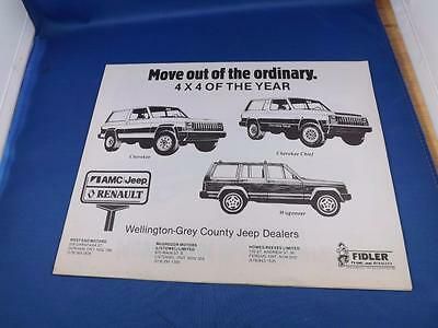 1999 Jeep Grand Cherokee Laredo Limited Deluxe 46-Page Sales Brochure Mint!