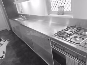 Stainless Steel Moulded Kitchen Bench