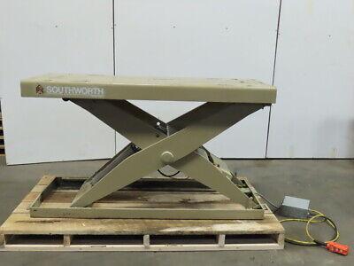 Southworth 2000lb Hydraulic Scissor Lift Table 66x24 Top 10-38h 230460v 3ph