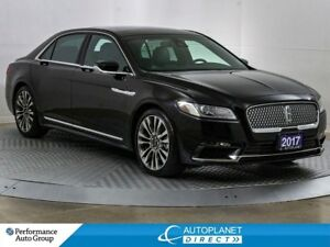 2017 Lincoln Continental Reserve AWD, Navi, Memory Seat, Apple C