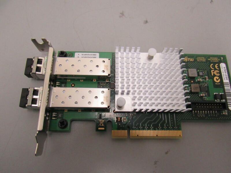 Fujitsu Ethernet Network Adapter 2x10gb Pci S26361-d2755-a11 Half Height Bracket