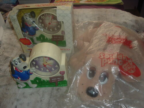 Wholesale Lot Pound Puppies Collectible Talking Alarm Clocks & Unopened Puppy.