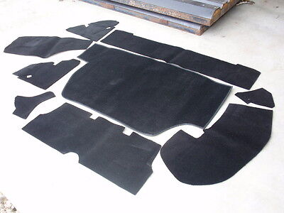 Triumph STAG  Boot Carpet Kit including all Backing Boards  BLACK