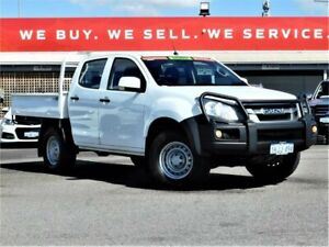 2015 Isuzu D-MAX MY15 SX Crew Cab White 5 Speed Sports Automatic Cab Chassis