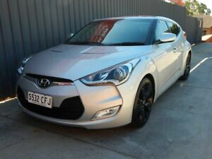 2014 Hyundai Veloster FS3 + Coupe D-CT Silver 6 Speed Sports Automatic Dual Clutch Hatchback Blair Athol Port Adelaide Area Preview