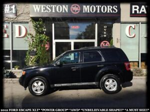 2012 Ford Escape PWR GRP*UNBELIEVABLE SHAPE!!*A MUST SEE!!*