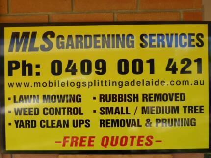 lawn mowing yard clean rubbish removal tree/scrub trim gardening